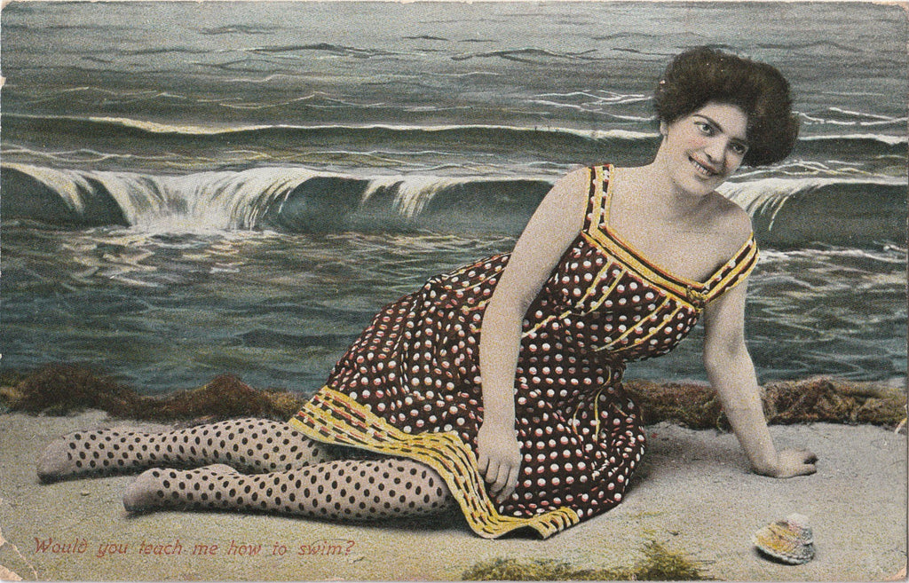 Would You Teach Me How To Swim Postcard