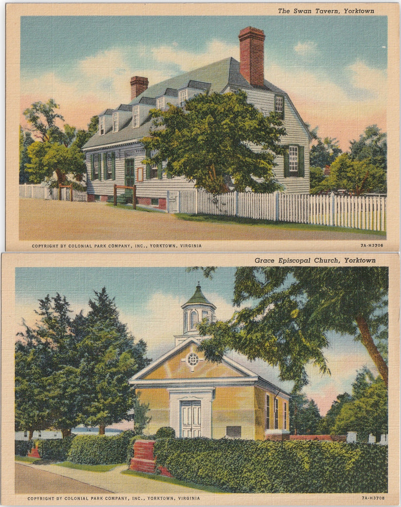 Yorktown Virginia Postcard SET