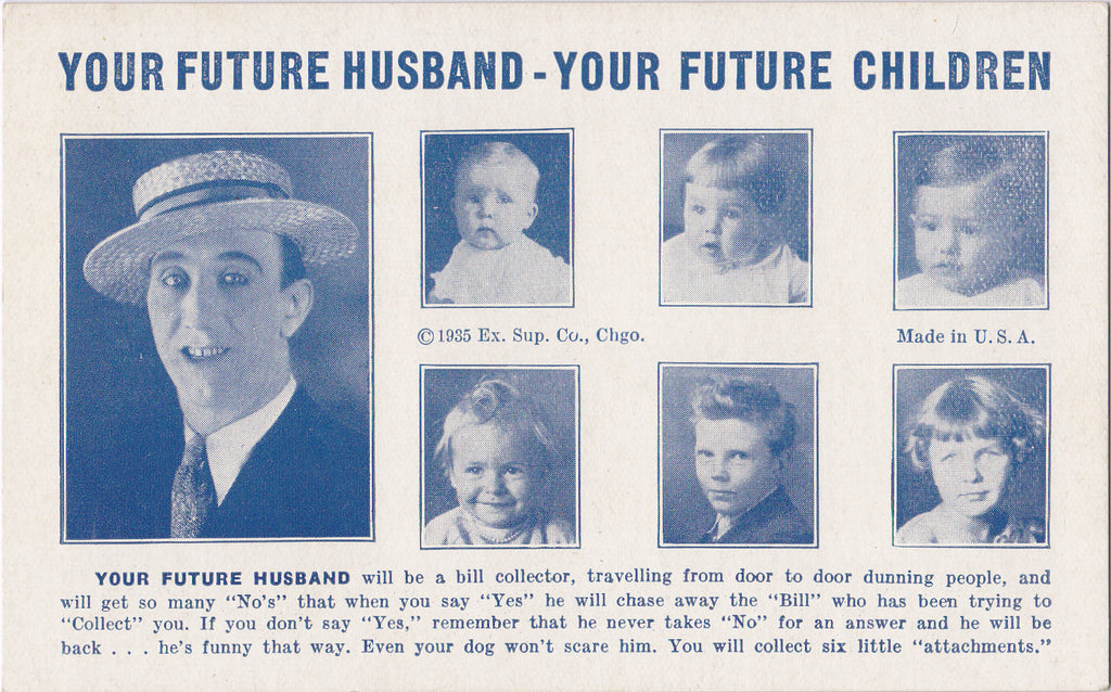 Your Future Husband Children Arcade Card