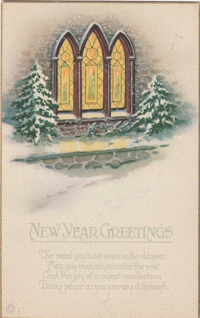 As You Enter the New Year -SET of 8- Postcards, c. 1910s