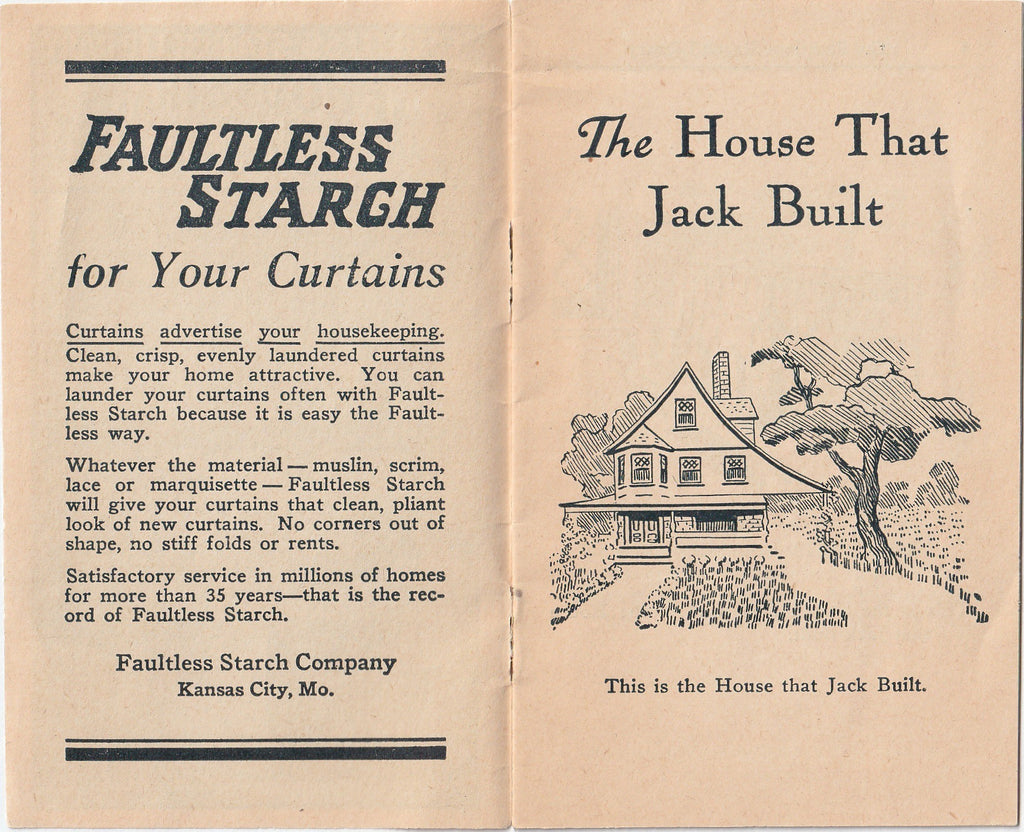The House That Jack Build Faultless Starch Booklet Vol 20 Interior