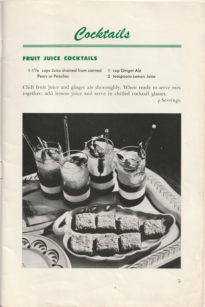 Wartime Recipes From Canned Foods WW2 Booklet Page 5