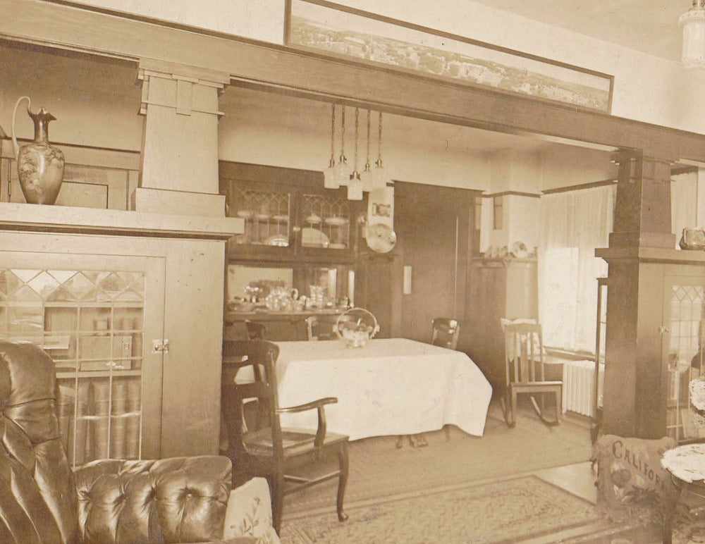 Sweet Home California 1910s Antique Photograph Edwardian Decor House Interior Found Photo