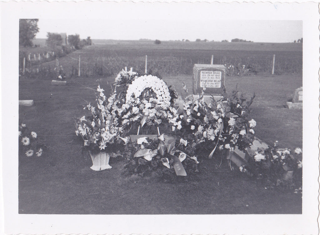 Funeral Flowers on Grave