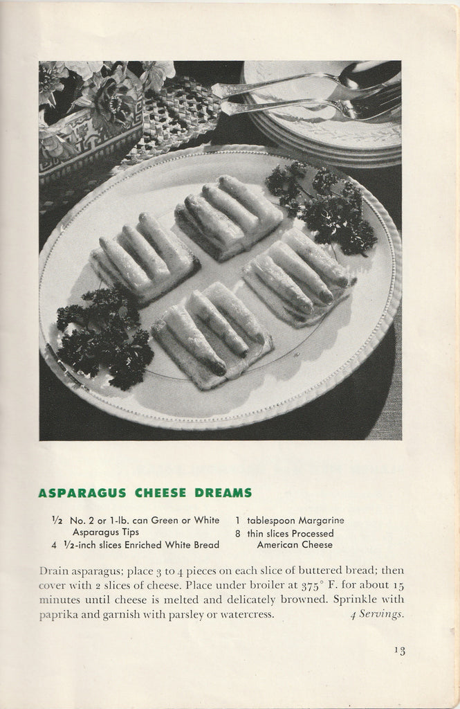 Wartime Recipes From Canned Foods WW2 Booklet Page 13