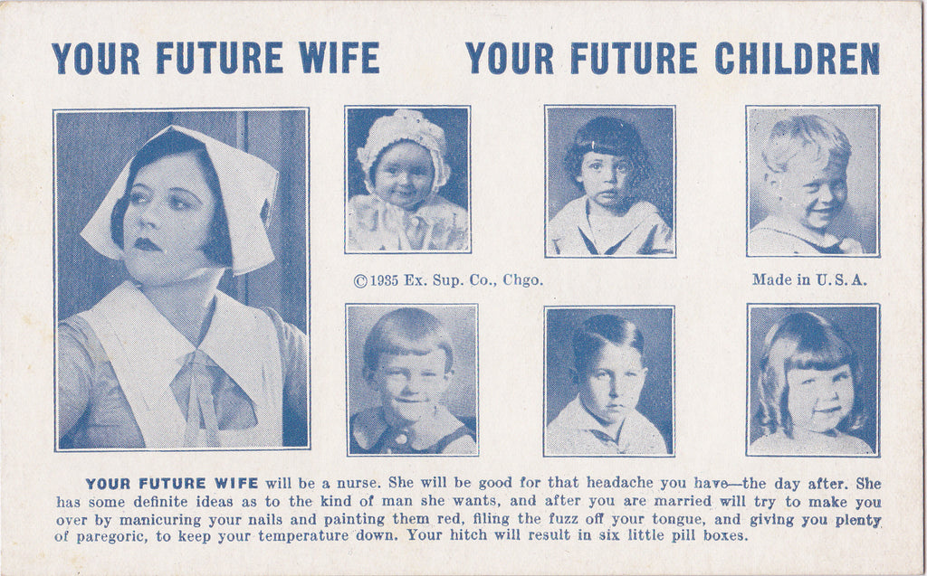 Your Future Wife Children Arcade Card