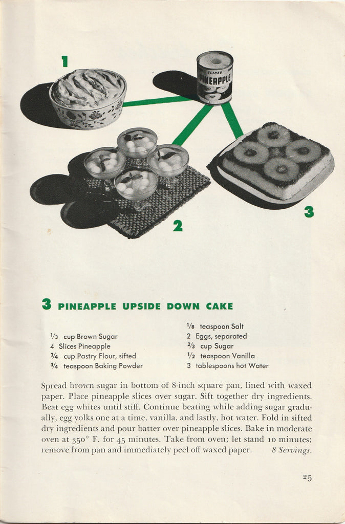 Wartime Recipes From Canned Foods WW2 Booklet Page 25