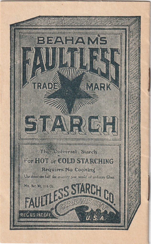 The House That Jack Build Faultless Starch Booklet Back
