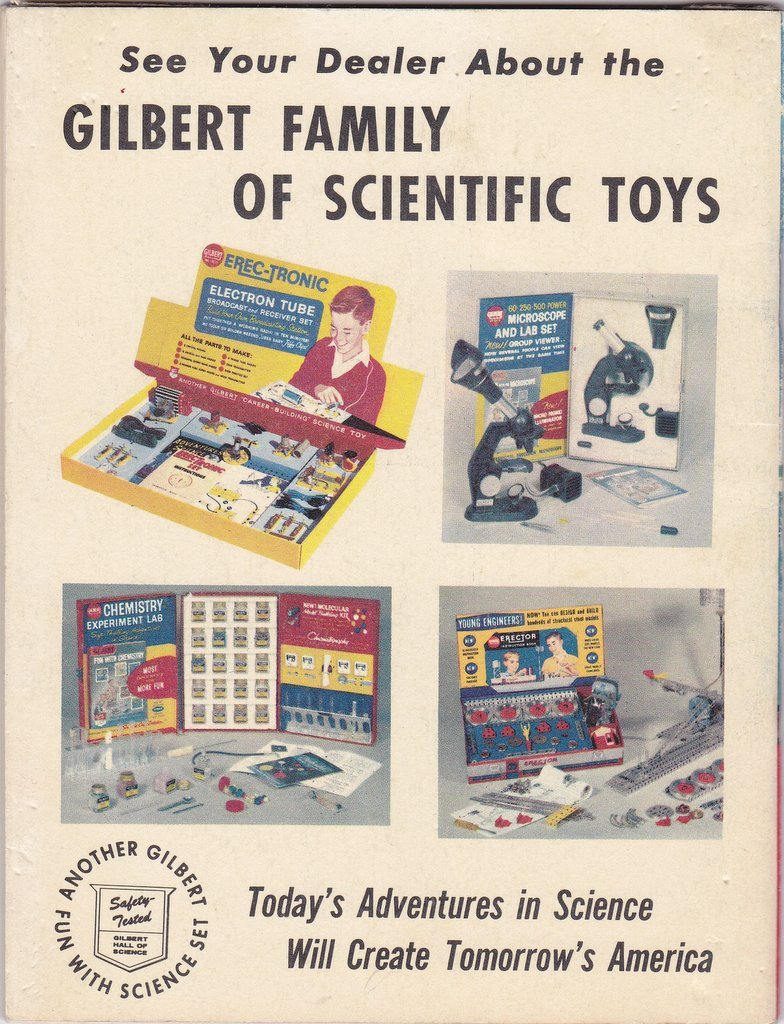 How To Use Observatory Set- 1950s Vintage Booklet- Magic Constellation Finder- Gilbert Scientific Toys- 50s Decor- Paper Ephemera