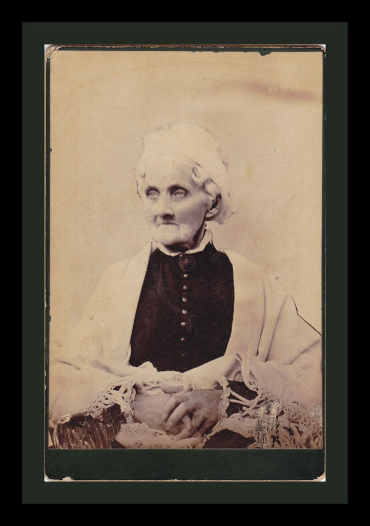 Death Glare- 1800s Antique Photograph- Ghostly Victorian Woman- Creepy Portrait- Cabinet Photo- Haunting- Found Photo- Paper Ephemera