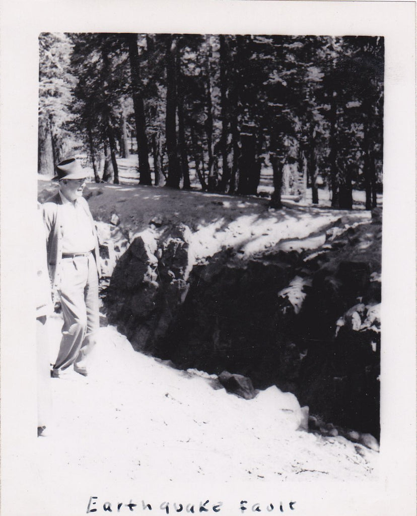 Earthquake Fault- 1950s Vintage Photograph- California Landscape- Fault Line- Natural Disaster- Found Photo- Vernacular Snapshot
