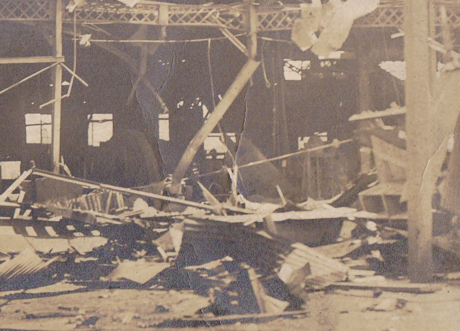 Factory in Ruins- 1910s Antique Photograph- Tornado Aftermath- Natural Disaster Aftermath- Real Photo Postcard- AZO RPPC