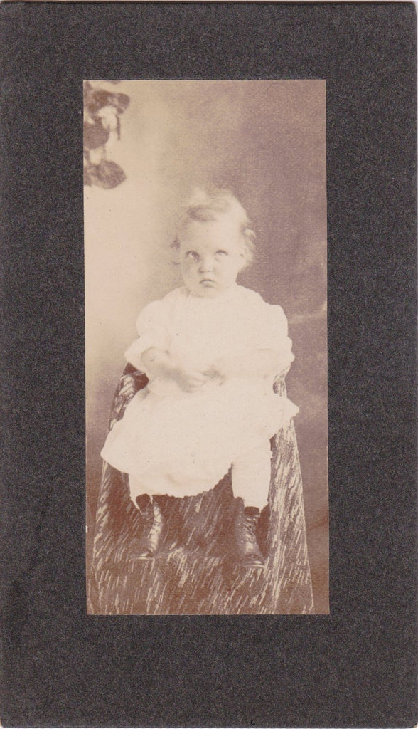 Cross Eyed Cuties- 1900s Antique Photographs- SET of 2- Edwardian Children- Brother Sister- Wilmington, Del- Cabinet Photos