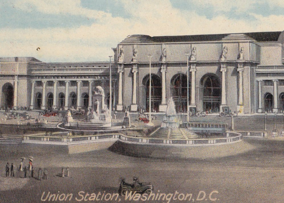 Union Station- 1910s Antique Postcard- Washington, D.C. Railway- Train Station- Souvenir View- Amerigraph Co- Ottenheimer- Unused