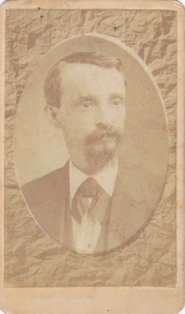 In Memory- 1800s Antique Photograph- Victorian Man- Memorial Portrait- Monongahela City, PA- G. L. Bayha- CDV Photo