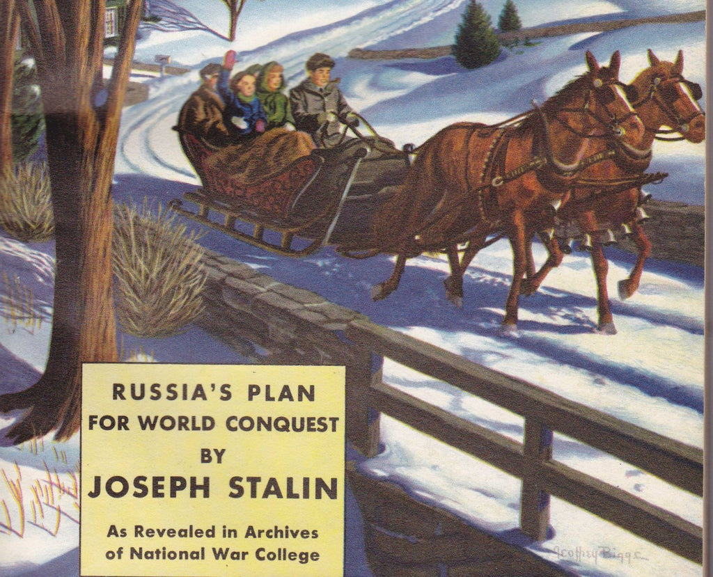Russia's Plan For World Conquest- 1950s Vintage Coronet Magazine- Joseph Stalin- January, 1951- Geoffry Biggs- News Articles- Paper Ephemera