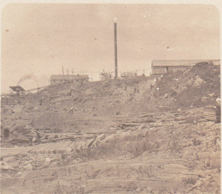 Lumber Mill- 1900s Antique Photograph- Turn of the Century- Industrial History- Real Photo Postcard- Kodak Velvet Green RPPC