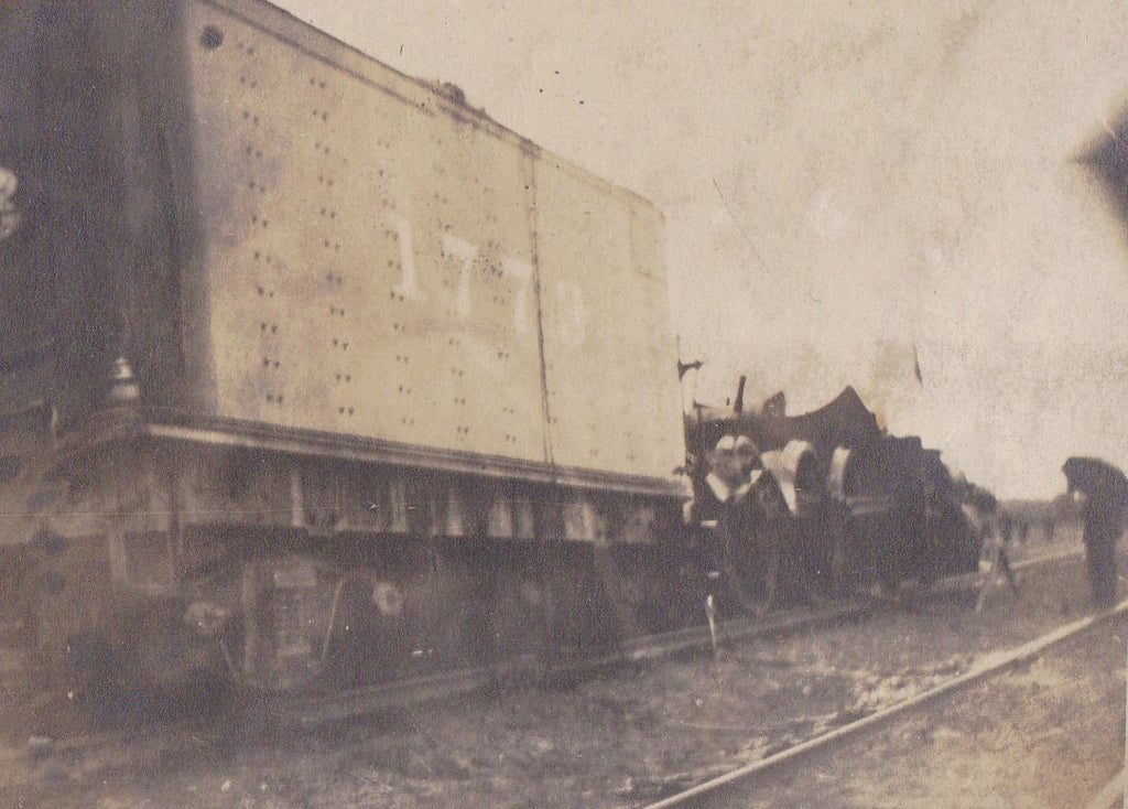 Freight Car 1773- 1900s Antique Photograph- Train Car- Train Tracks- Railroad History- Vernacular- Real Photo Postcard- RPPC- Paper Ephemera