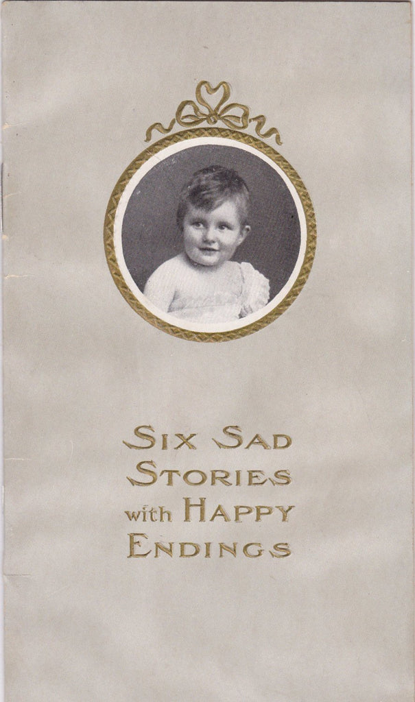 Six Sad Stories with Happy Endings- 1900s Antique Booklet- Eskay's Food- Edwardian Baby- Testimonial- Medical Advertisement- Paper Ephemera