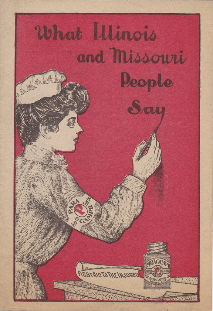 d1aaf0fe4aa What Illinois and Missouri People Say- 1900s Antique Booklet- The Paracamph  Co- First