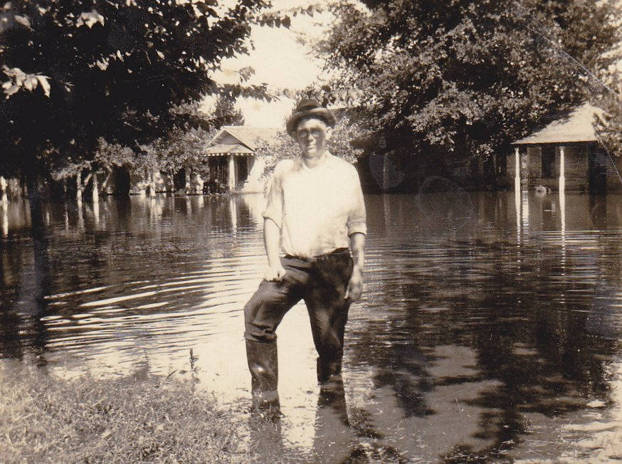 1926 Flood Waters- 1920s Antique Photographs- SET of 2- Flooding- Natural Disaster- Found Photo- Vernacular- Snapshots