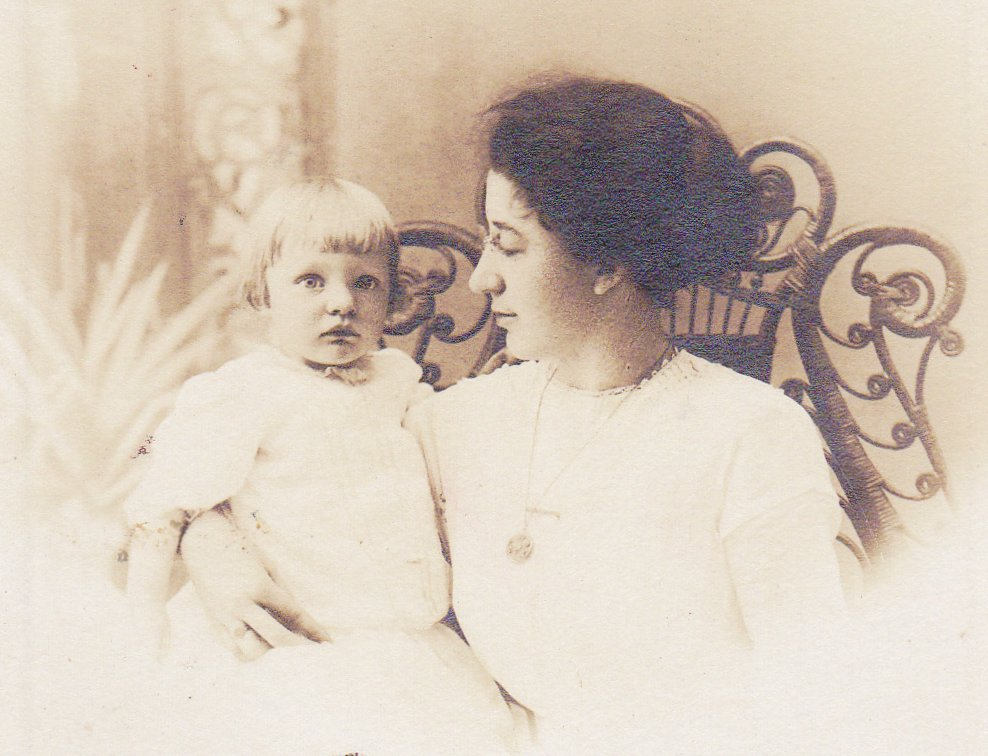 Edwardian Mother and Child- 1900s Antique Photograph- Found Photo- Profile Portrait- Real Photo Postcard- Artura RPPC
