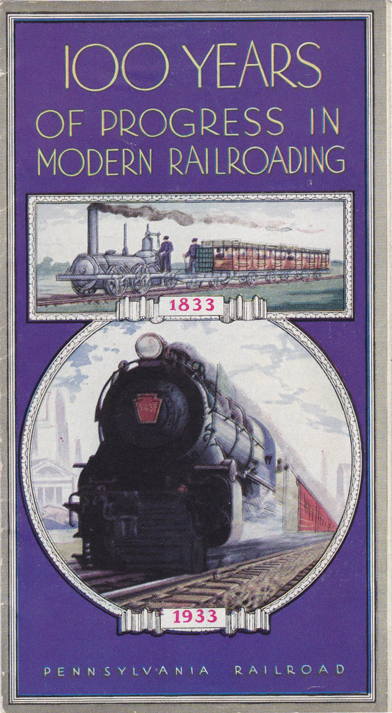 100 Years of Progress in Modern Railroading Pamphlet