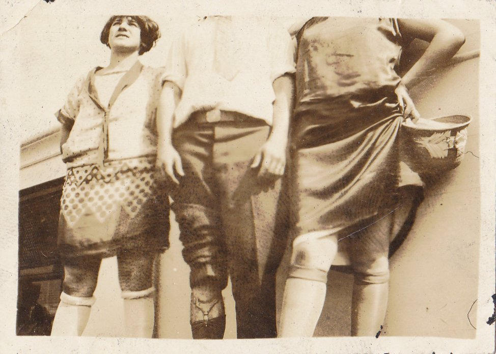 All That Jazz- 1920s Antique Photographs- SET of 2- Roaring 20s- Rolled Down Stockings- Flapper Fashion- Found Photos- Vernacular- Ephemera