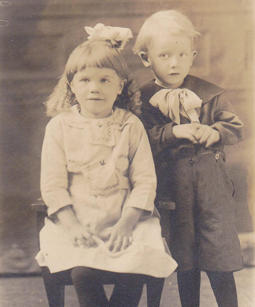 Edwardian Children- 1910s Antique Photograph- Brother and Sister- St. Paul, Minn- Found Photo- Real Photo Postcard- RPPC- Paper Ephemera