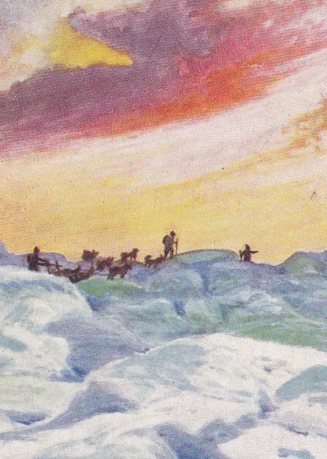 On The Way To North Pole- 1900s Antique Postcard- A Operti- Greenland- Raphael Tuck's Oilette- Wide Wide World- Landscape Art- Unused