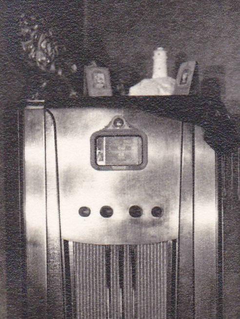 Late Night Radio- 1930s Vintage Photograph- Console Radio- Retro Decor- Interior Photo- Found Photo- Vernacular- Paper Ephemera