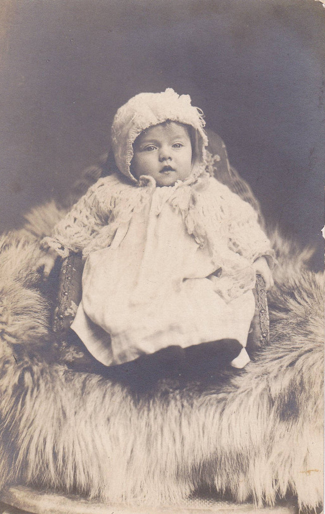 Baby Bertha Ruth- 1900s Antique Photograph- Edwardian Baby- Found Photo- Identified RPPC- Real Photo Postcard- Vernacular- Paper Ephemera