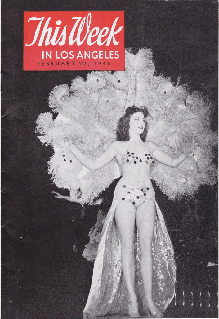 This Week In Los Angeles- 1940s Vintage Magazine- Ruth Walton- February 22, 1946- Vol. 2, No. 8- Tourist Guide- Entertainment Ephemera