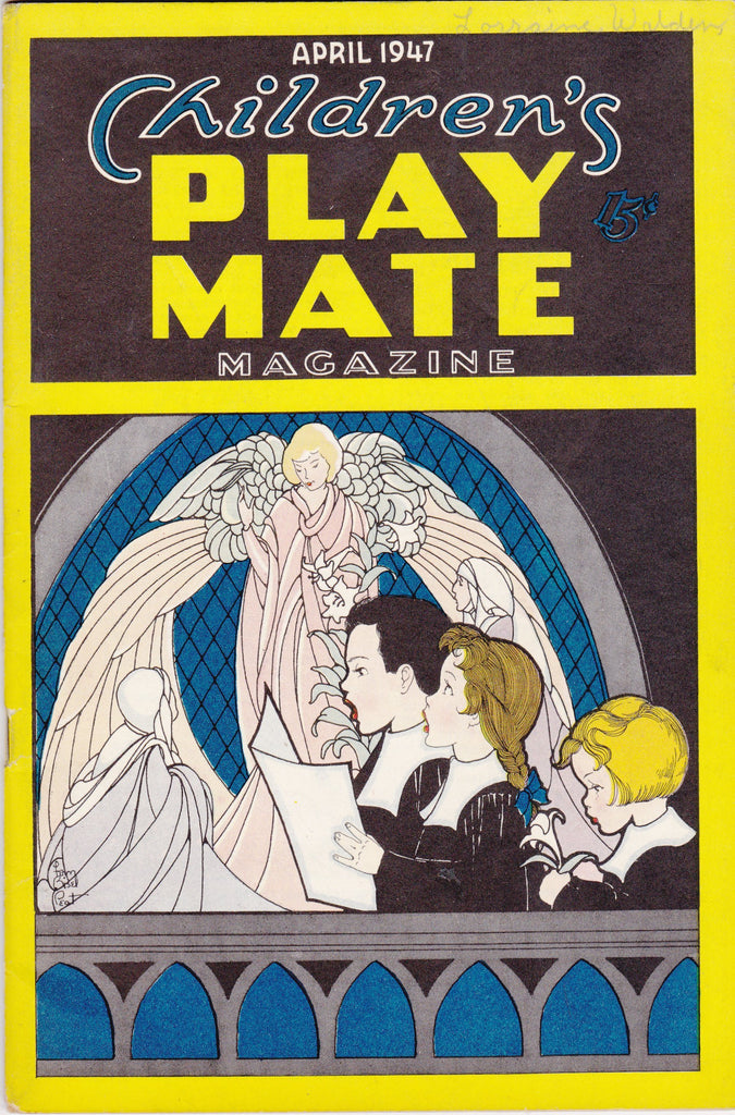 Children's Play Mate Magazine- 1940s Vintage Booklet- April, 1947- Easter Crafts- Activity Book- A R Mueller- Paper Ephemera