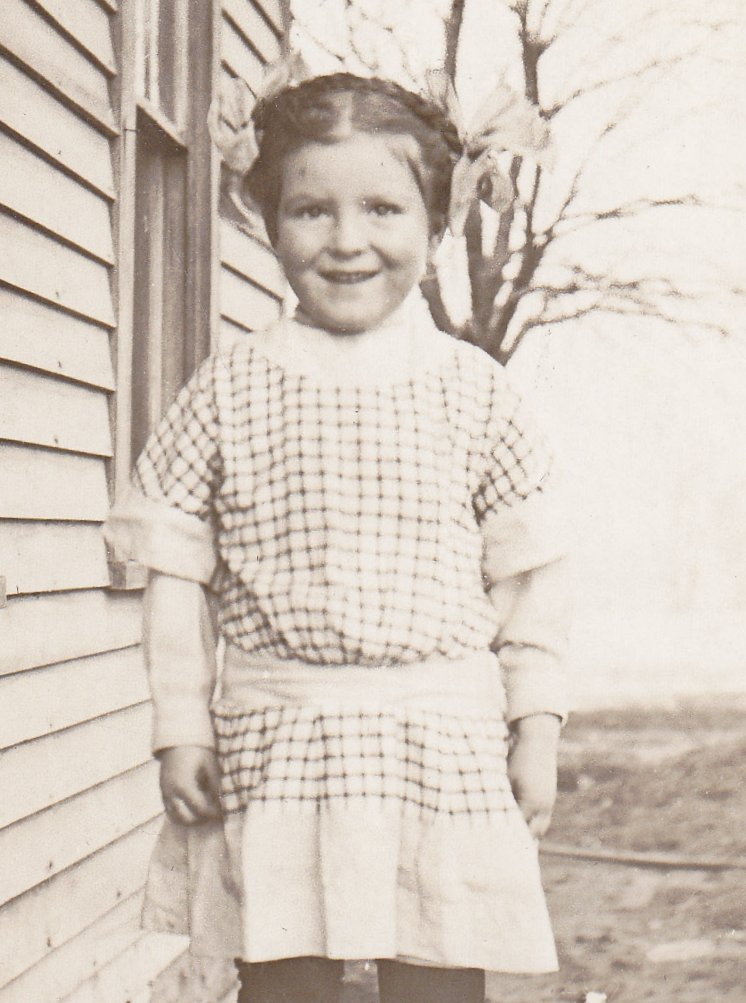 Gingham Girl- 1910s Antique Photograph- Edwardian Child- Found Photo- Real Photo Postcard- RPPC- Vernacular- Paper Ephemera