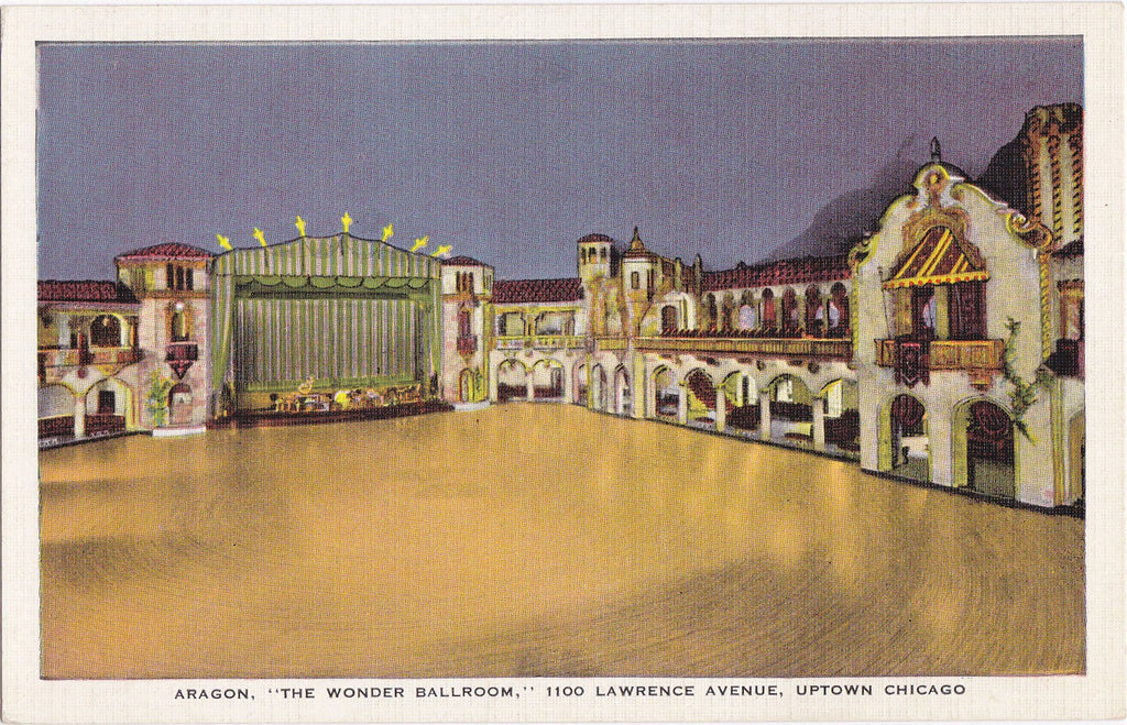 Aragon Ballroom- 1930s Vintage Postcard- Lawrence Avenue- Uptown Chicago, Illinois- Interior View- E C Kropp- Unused