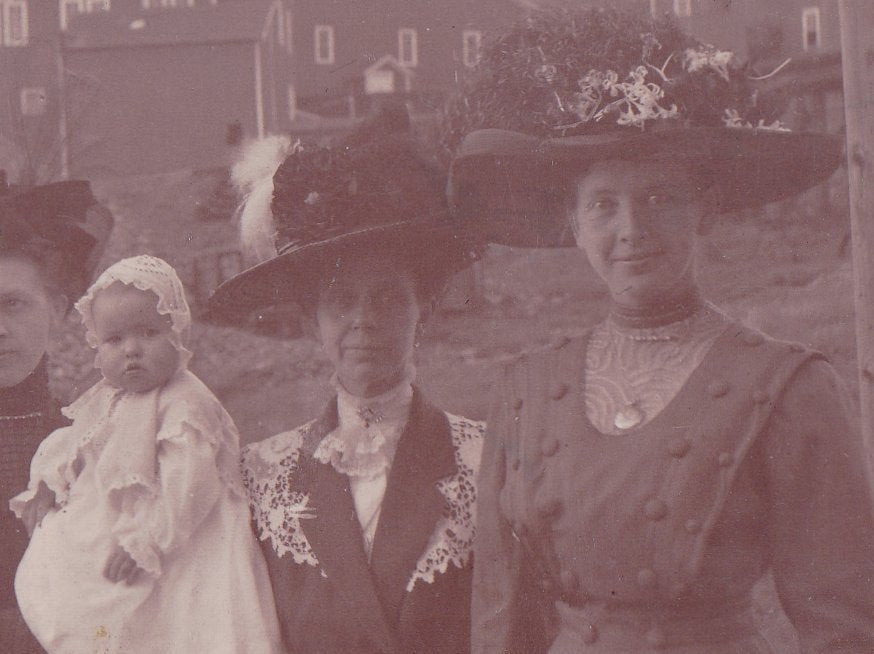 Our Easter Best- 1900s Antique Photograph- Edwardian Family-  Women in Hats- Found Photo- Real Photo Postcard- RPPC
