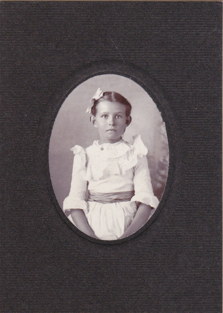 Little Lady- 1890s Antique Photograph- Victorian Girl- Child Portrait- Cabinet Photo- Found Photo- 19th Century- Pretty Little Girl