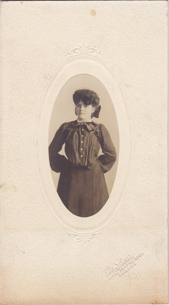 Debutante- 1890s Antique Photograph- Victorian Teenager- Denver, Co- Cabinet Photo- 19th Century Fashion- Senior Portrait- Ephemera