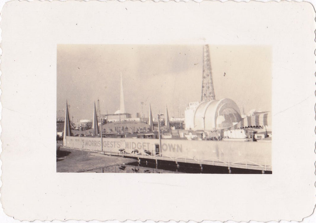 Morris Gest's Midget Town- 1930s Vintage Photograph- 1939 New York World's Fair- Little People- Sideshow- Found Photo- Vernacular- Snapshot