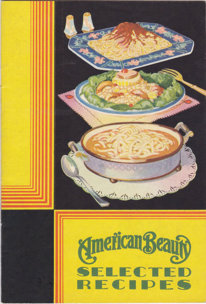 American Beauty Recipes - Booklet, c. 1920s