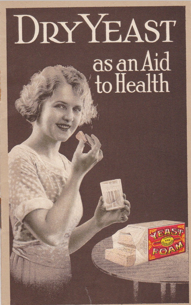 Dry Yeast as an Aid to Health- 1920s Antique Booklet- Northwestern Yeast Co.- Cooking Guide- Recipe Book- Advertisement- Paper Ephemera