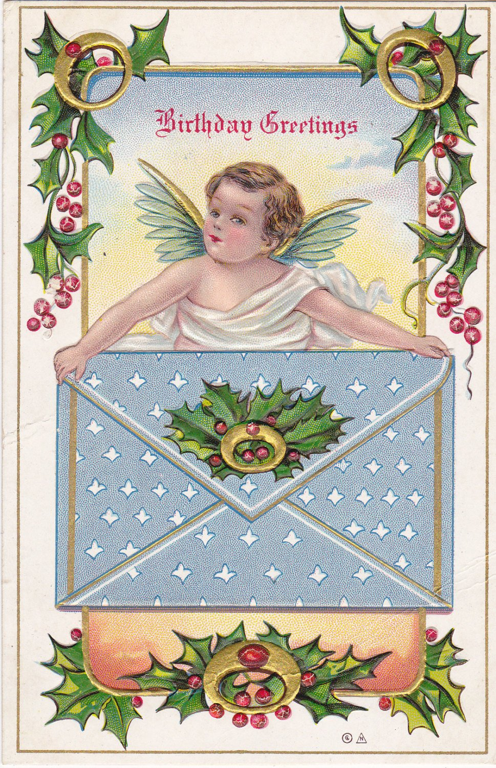 Christmas angel 1900s antique postcard christmas birthday winter christmas angel 1900s antique postcard christmas birthday winter decor december birthday cherub art birthday series used izmirmasajfo