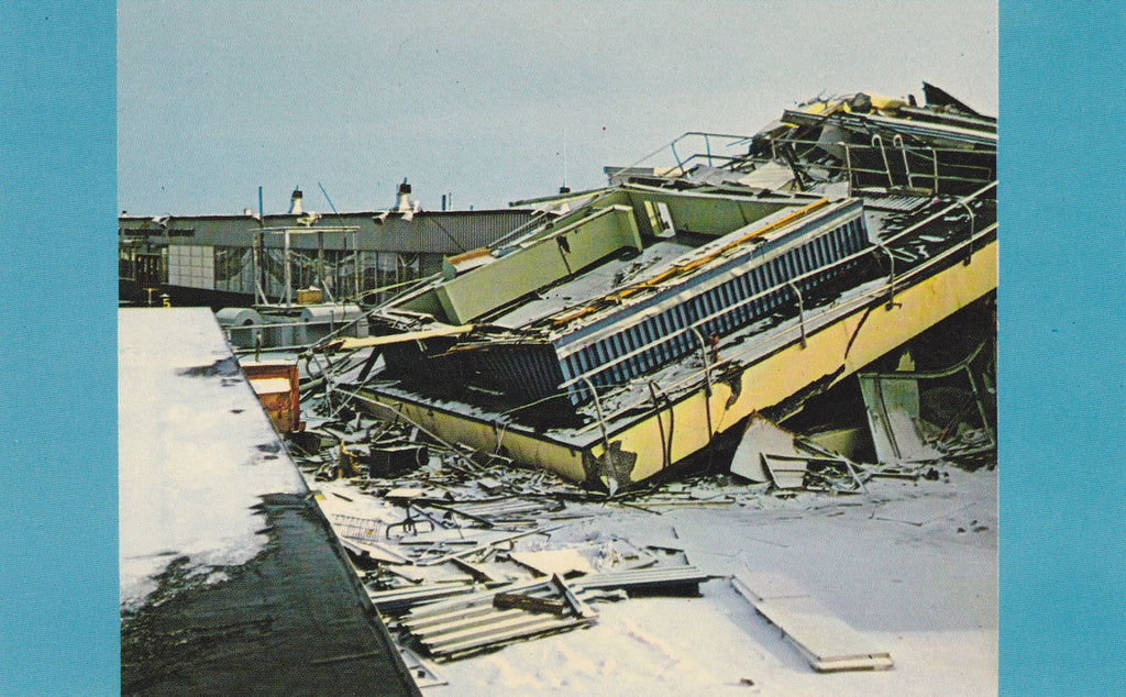 Great Alaskan Earthquake of Good Friday 1964- 1960s Vintage Chrome Postcard- Anchorage, Alaska- Control Tower Ruins- Plastichrome- Alaska Joe Original