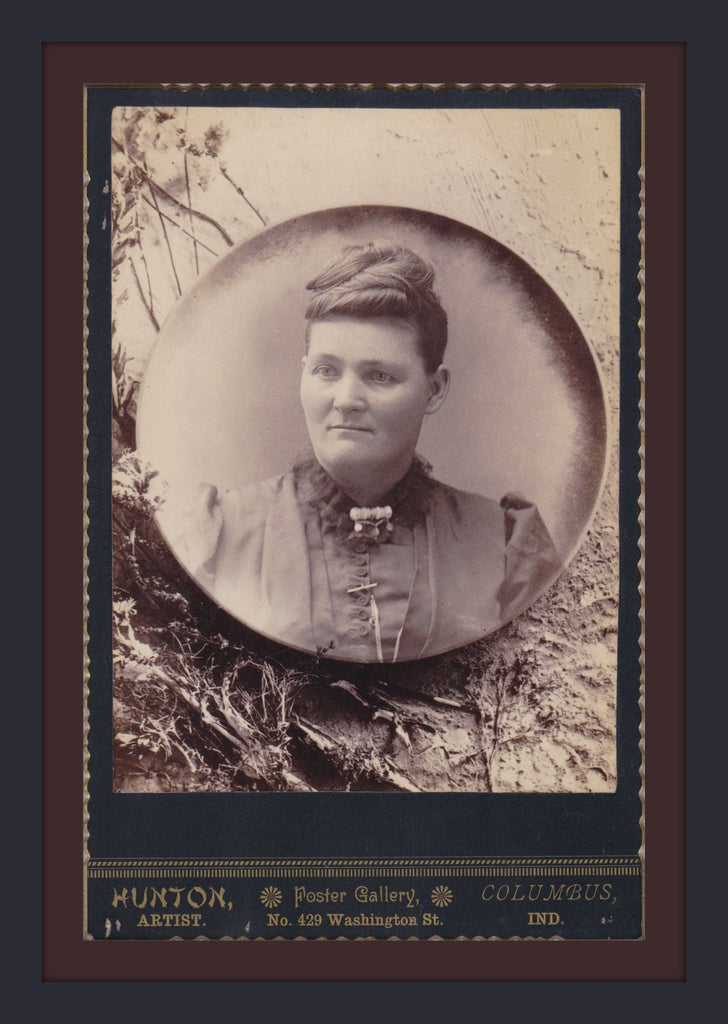 Memories in a Crystal Ball- 1800s Antique Photograph- Victorian Memorial- Haunting Superimposed Portrait-  Cabinet Photo- Paper Ephemera