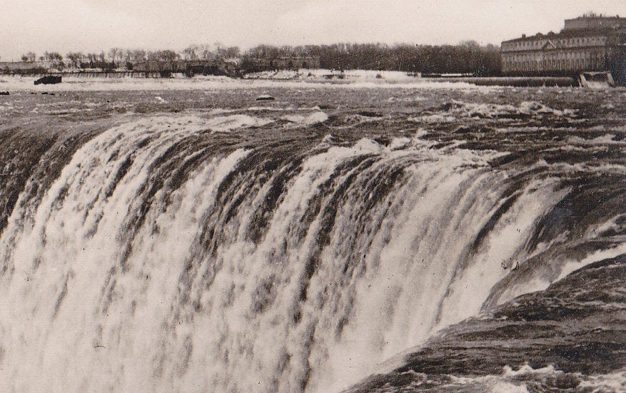 Brink of Horseshoe Falls- 1920s Antique Photograph- Niagara Falls, Canada- Souvenir View- Real Photo Postcard- RPPC