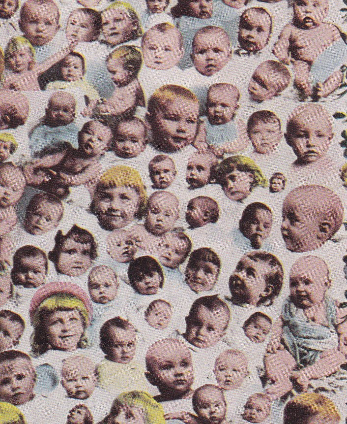 Utah's Best Crop- 1910s Antique Postcard- Babies Everywhere- Edwardian Montage- Baby Collage- Unusual- Unused