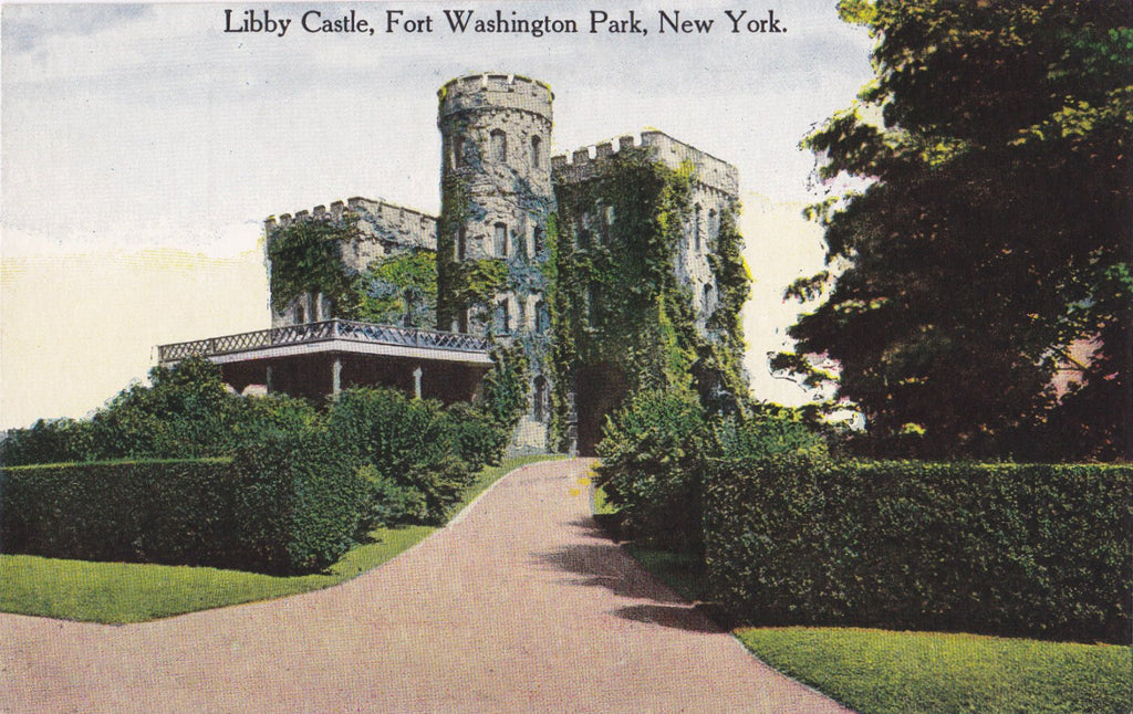 Libby Castle- 1900s Antique Postcard- Fort Washington Park, New York- Souvenir View- Success Postal Co- Unused