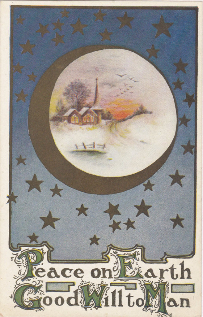 Peace On Earth (Gold) - Postcard, c. 1900s