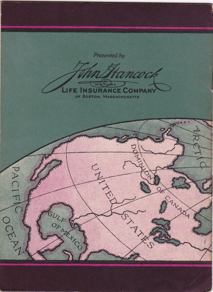 Peary and the Discovery of the North Pole- 1920s Antique Booklet- John Hancock Life Insurance- History Booklet- Exlplorer- Paper Ephemera